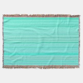 Striped Pattern Print Stripes Green Teal Seafoam Throw Blanket