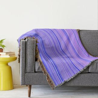 Striped Pattern Print Stripes Purple Throw Blanket