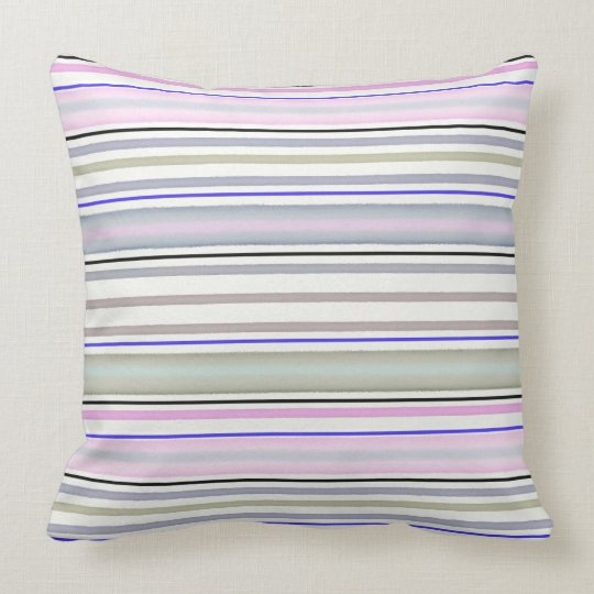 Striped pattern throw pillow