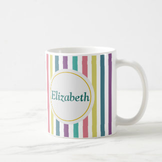 Striped Personalised Name Coffee Mug