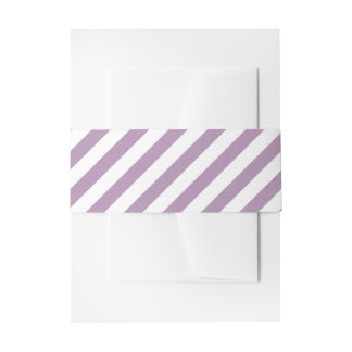 Striped Pick Any Color Wedding Personalized Invitation Belly Band