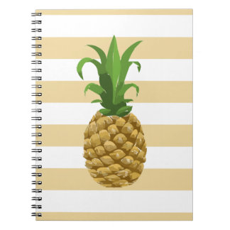 Striped Pineapple Notebook