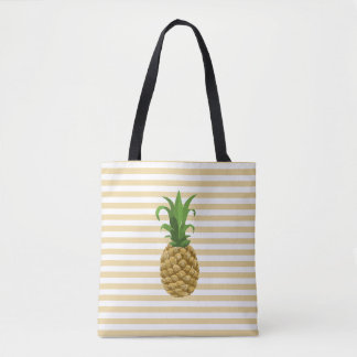 Striped Pineapple Tote