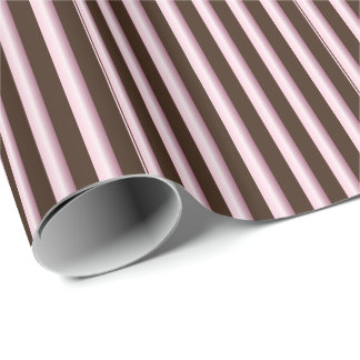 Striped Pink and Brown Line Pattern