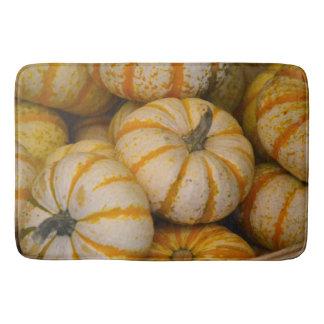 Striped Pumpkin Bath Mat