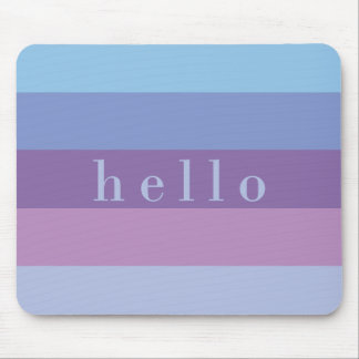 Striped Purple and Blue Palette | Hello Mouse Pad