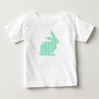 Striped Rabbit Silhouette Baby T-Shirt