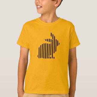 Striped Rabbit Silhouette T-Shirt