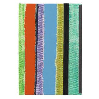 striped rainbow pattern cover for iPad mini