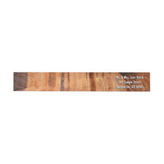Striped Rock of Double Arch Alcove II Zion Park Wrap Around Label