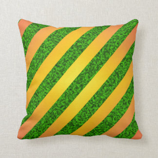 Striped seamless pattern throw pillow