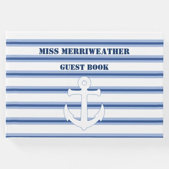 Striped Ships Anchor Guest Book