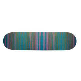 Striped skateboard. custom skateboard