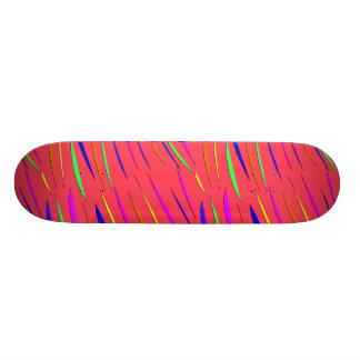 Striped Skateboard Design