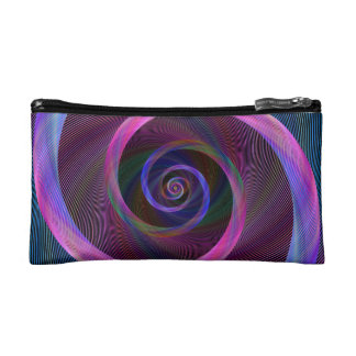 Striped spiral cosmetic bags