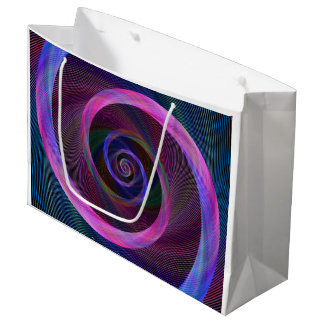 Striped spiral large gift bag
