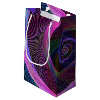 Striped spiral small gift bag