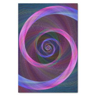 Striped spiral tissue paper