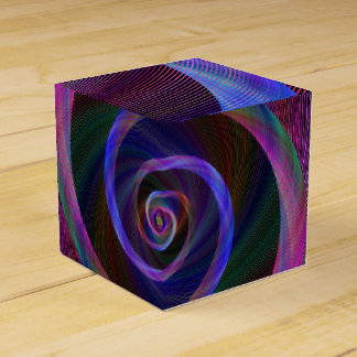 Striped spiral wedding favor boxes