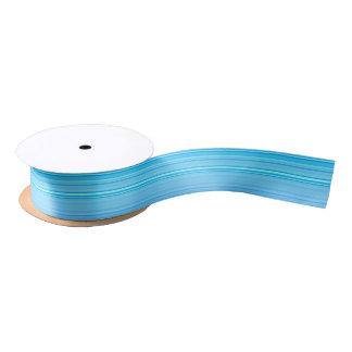 Striped Stripes Blue Pattern Print Satin Ribbon