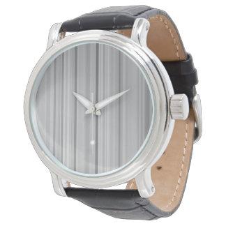 Striped Stripes Gray Grey Pattern Print Wristwatch