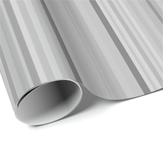 Striped Stripes Grey Grey Pattern Print Wrapping Paper