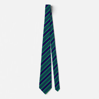 Striped Ties For Men Kelly Green And Blue