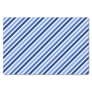 Striped Tissue Paper:Blue And White Stripes Tissue Paper