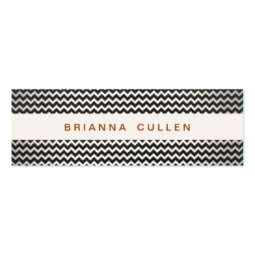 Striped Trendy Chevron Elegant Fashion and Beauty Business Card Templates
