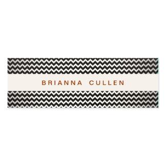 Striped Trendy Chevron Elegant Fashion and Beauty Mini Business Card