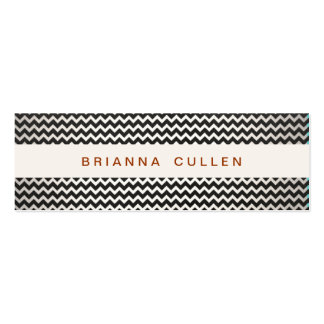 Striped Trendy Chevron Elegant Fashion and Beauty Pack Of Skinny Business Cards