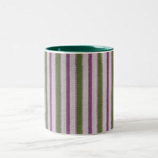 Striped Two-Tone Coffee Mug