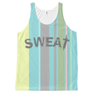 Striped Unisex Tank All Over Print SWEAT