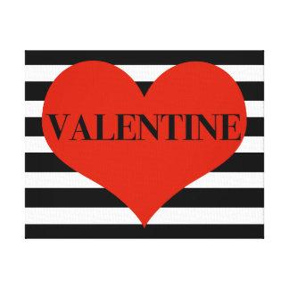 Striped Valentine Canvas Print