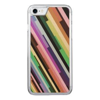 Striped Variegated Fractal Carved iPhone 8/7 Case