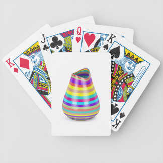 Striped vase bicycle playing cards