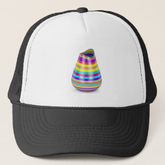 Striped vase trucker hat