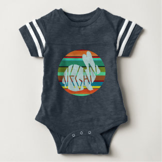 Striped Vegan Bunny Baby Bodysuit