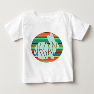 Striped Vegan Bunny Baby T-Shirt