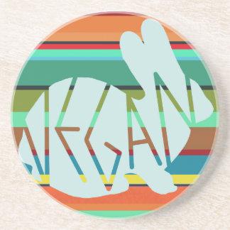 Striped Vegan Bunny Coaster
