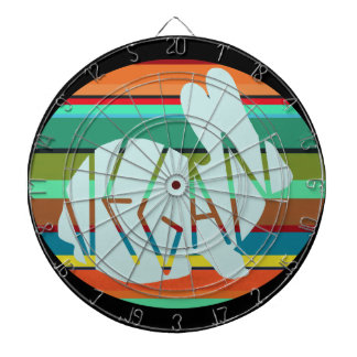 Striped Vegan Bunny Dartboard