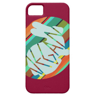 Striped Vegan Bunny iPhone 5 Cover