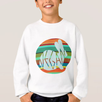 Striped Vegan Bunny Sweatshirt
