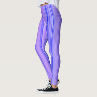 Striped Vertical Stripes Purple Leggings
