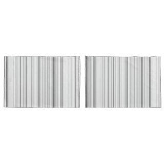 Striped Vertical Stripes White Gray Light Grey Pillowcase