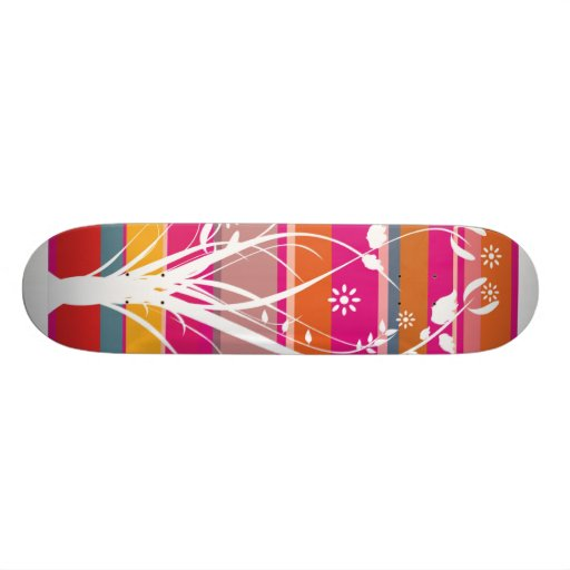 Striped Whimsy Skate Boards