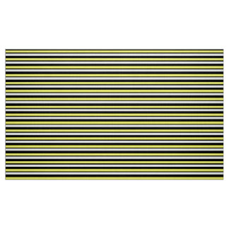 Striped Yellow and Black Custom Fabric