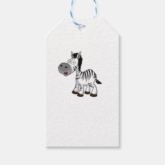 striped zebra art gift tags