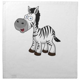 striped zebra art napkin