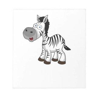 striped zebra art notepads